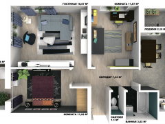 Возможная планировка квартиры