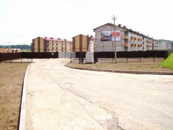 Ход строительства (въезд Сиреневый квартал)