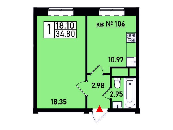 Квартира №106