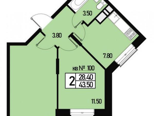 Квартира №100