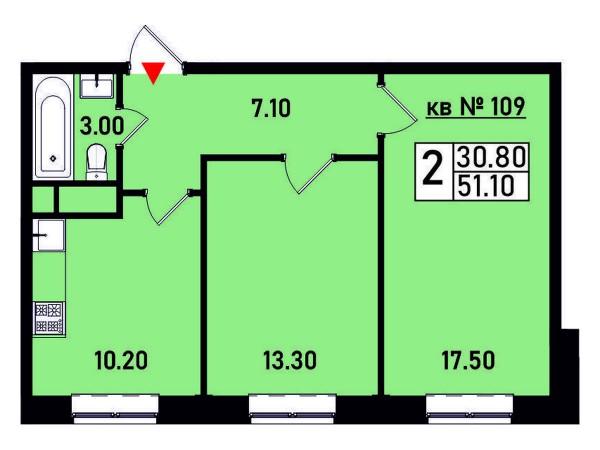 Квартира №109
