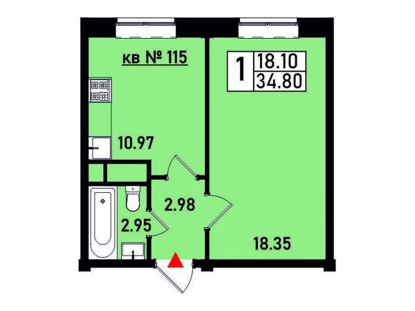 Квартира №115